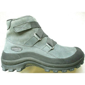 BAFFIN Gray Nubuck Leather Waterproof Boots NEW! 8